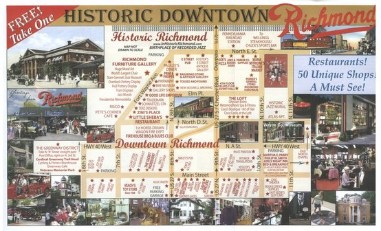 Historic Richmond Indiana Along The National Road Hwy 40